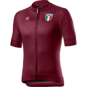 Castelli Italia 20 Koszulka z krótkim rękawem Mężczyźni, sangria